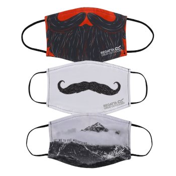 Adult's Face Covering 3 Pack Mixed Novelty