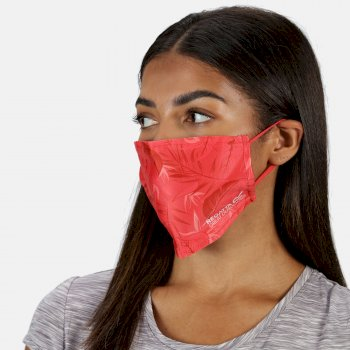 Adult's Face Covering 3 Pack Red Sky Black