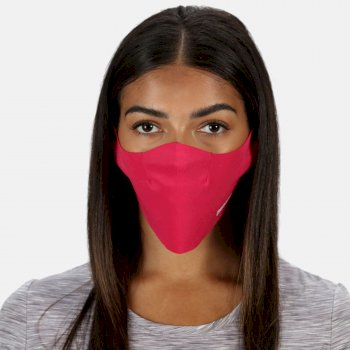 Adult's Stretch Face Covering 3 Pack Virtual Pink