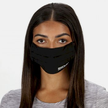 Adult's Triple Layer Face Covering 3 Pack Black