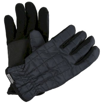 Quilted Gloves Seal Grey