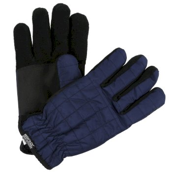 Adults Quilted Gloves Navy