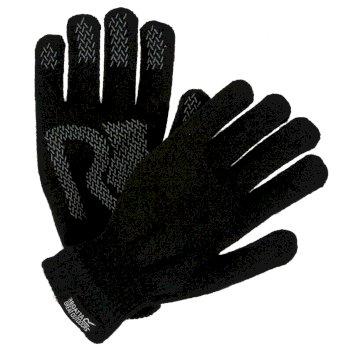 Brevis Acrylic Knit Gloves Black