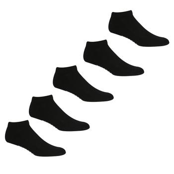 Adult's 5 Pair Trainer Socks Black
