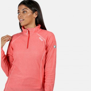 Women's Montes Lightweight Half-Zip Fleece Red Sky