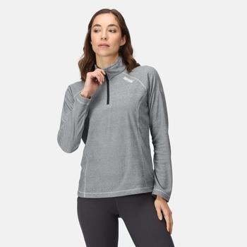Women's Montes Lightweight Half Zip Fleece Navy White Stripe