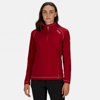 Women's Montes Lightweight Half-Zip Fleece Dark Cerise