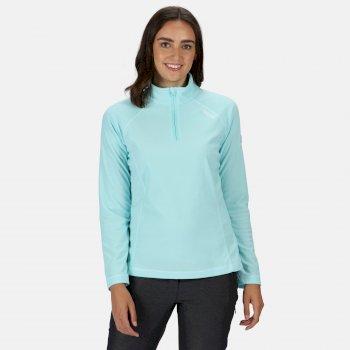 Women's Montes Lightweight Half-Zip Fleece Cool Aqua White