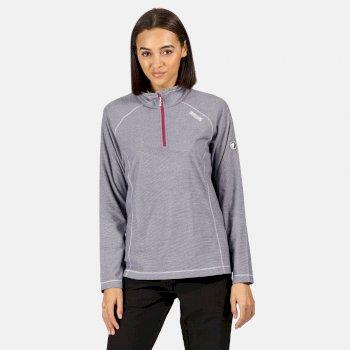 Women's Montes Lightweight Half-Zip Fleece Elderberry White