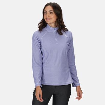 Women's Montes Lightweight Half-Zip Fleece Lilac Bloom White