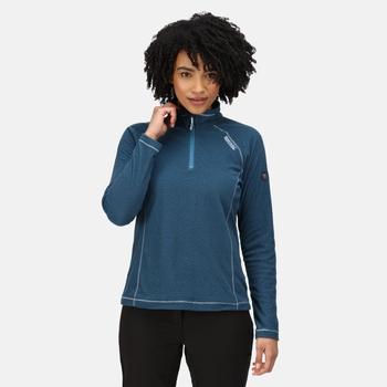 Women's Montes Lightweight Half-Zip Fleece Blue Sapphire Black