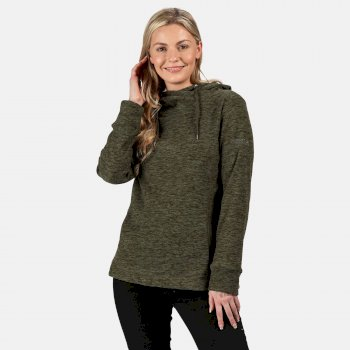 Women's Kizmit II Hooded Marl Fleece Dark Khaki