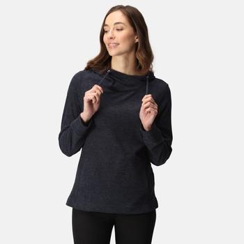 Women's Kizmit II Hooded Marl Fleece Navy Black