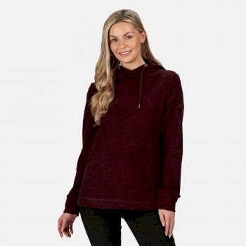 Kimberley Walsh Kizmit II Hooded Marl Fleece Dark Burgundy