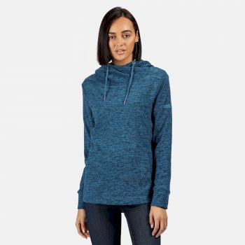 Women's Kizmit II Hooded Marl Fleece Blue Sapphire