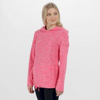 Chantile Marl Fleece Oversized Hood Fleece Hot Pink