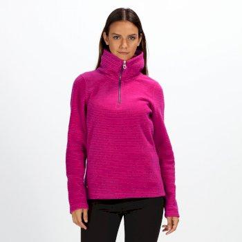 a82ec90ffa8 Women's Solenne Half-Zip Stripe Fleece Dark Cerise