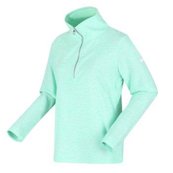 Women's Fidelia Lightweight Half-Zip Fleece Ice Green Marl