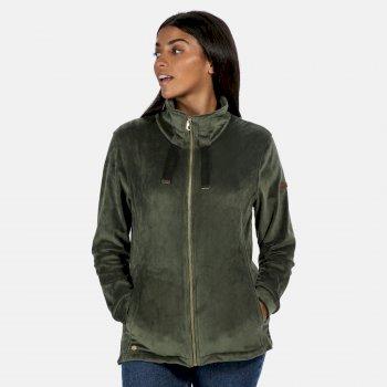 Women's Odelia Full Zip Heavyweight Fleece Thyme Leaf