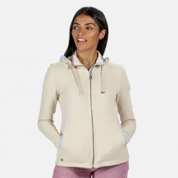 Women's Ramana Mid Weight Full Zip Hooded Fleece Light Vanilla