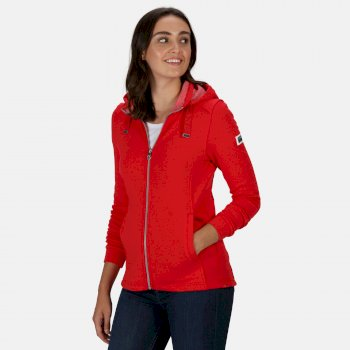 Women's Ramana Mid Weight Full Zip Hooded Fleece True Red