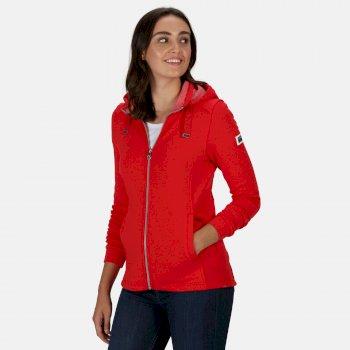 Women's Ramana Mid Weight Full Zip Hooded Fleece True Red