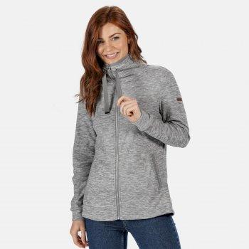 Women's Evanna Full Zip Lightweight Fleece Rock Grey