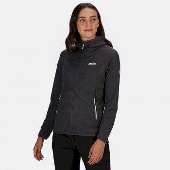 Women's Terota Lightweight Full Zip Hooded Fleece Stretch Midlayer Seal Grey