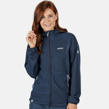 Women's Terota Lightweight Full Zip Hooded Fleece Dark Denim
