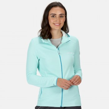 Women's Terota Lightweight Full Zip Hooded Fleece Cool Aqua