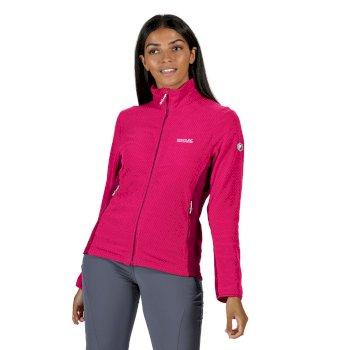 Women's Highton Lightweight Full Zip Honeycomb Fleece Duchess Dark Cerise