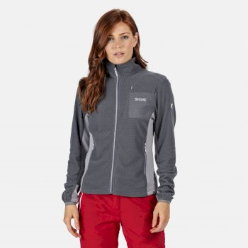 Women's Highton Lightweight Full Zip Honeycomb Fleece Onyx Grey Dapple