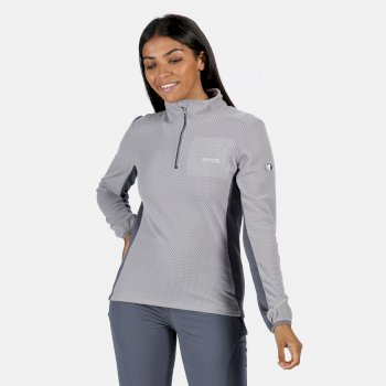 Women's Highton Lightweight Half Zip Honeycomb Fleece Dapple Onyx Grey
