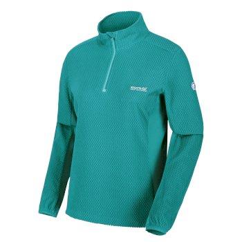 Women's Highton Lightweight Half Zip Honeycomb Fleece Turquoise