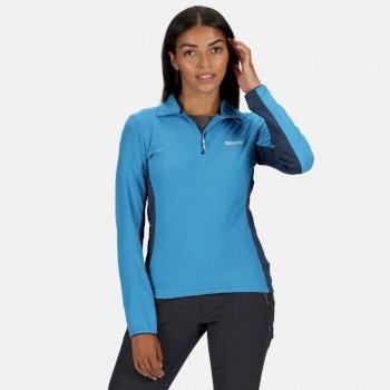 Women's Highton Lightweight Half Zip Honeycomb Fleece Blue Aster Dark Denim