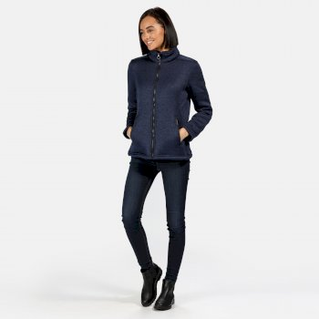 Women's Razia Full Zip Heavyweight Knit Effect Fleece Navy
