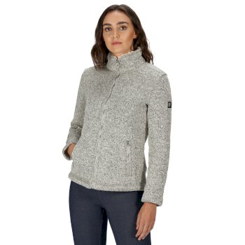 Women's Razia Full Zip Heavyweight Knit Effect Fleece Light Vanilla