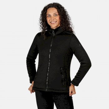 Women's Razia Full Zip Heavyweight Knit Effect Fleece Black Black