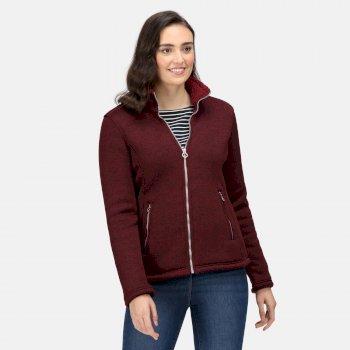 Women's Razia Full Zip Heavyweight Fleece Claret