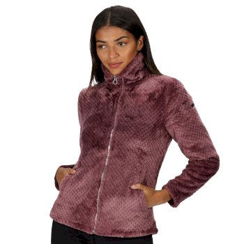 Women's Hermilla Full Zip Velour Fluffy Fleece Dusky Heather