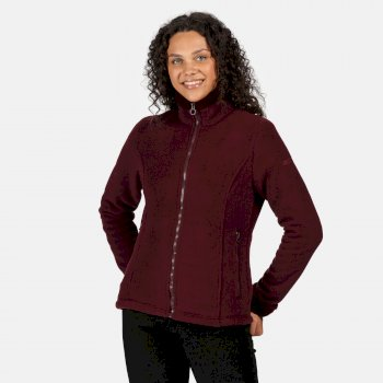 Women's Brandall Full Zip Heavyweight Fleece Dark Burgundy