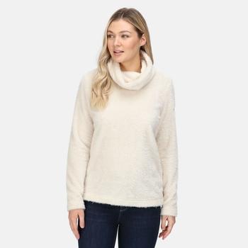 Women's Hedda Cowl Neck Fleece Light Vanila Fluffy