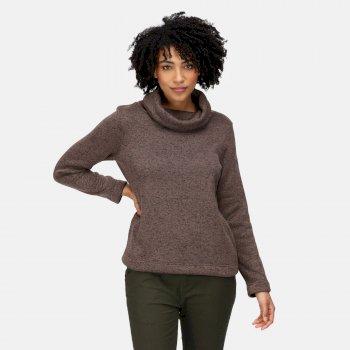 Women's Hedda Cowl Neck Fleece Coconut Knit Effect