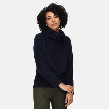 Women's Hedda Cowl Neck Fleece Navy Fluffy