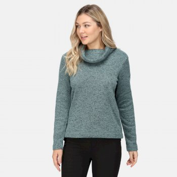 Women's Hedda Cowl Neck Fleece Ivy Moss Knit Effect
