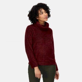 Women's Hedda Cowl Neck Fleece Claret Fluffy