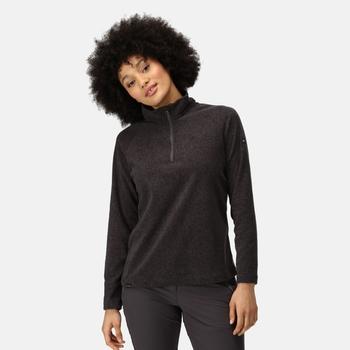 Women's Pimlo Half Zip Velour Fleece Seal Grey