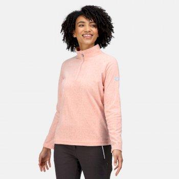 Women's Pimlo Half Zip Velour Fleece Mellow Rose