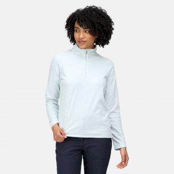Women's Pimlo Half Zip Velour Fleece Ice Blue