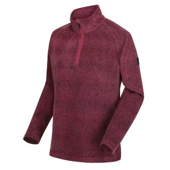 Women's Pimlo Half Zip Velour Walking Fleece Purple Potion